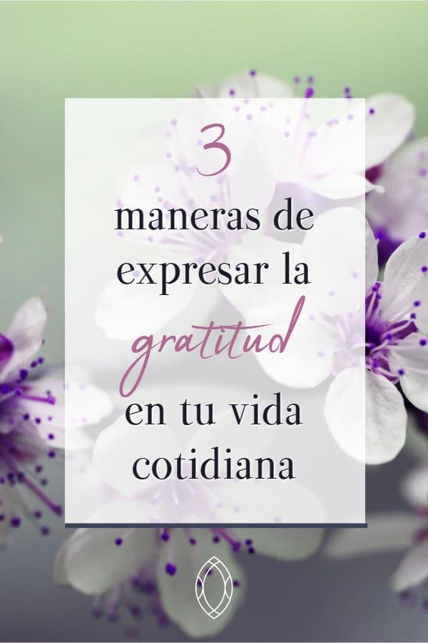 Incluir la gratitud en la vida cotidiana a través de 3 hábitos