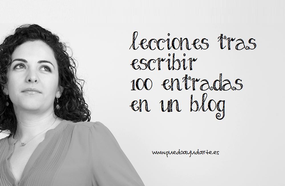lecciones tras escribir 100 entradas en un blog