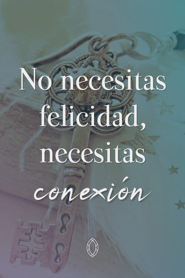 No necesitas felicidad, necesitas conexión