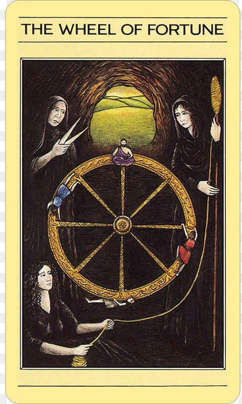Rueda de la fortuna tarot mítico